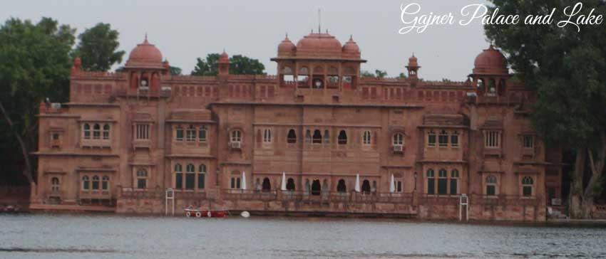 gajner palace and lake